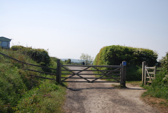 Gate across the old railway line