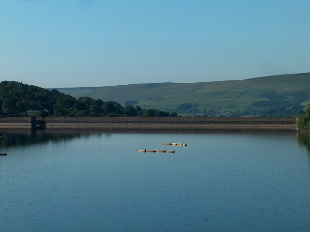 Ladybower Dam viewed from the A57