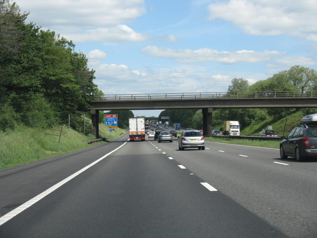 M6 motorway - overbridge near Cross Bank Farm