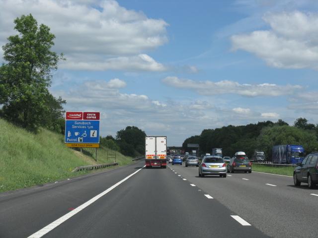 M6 motorway north of Cross Bank Farm