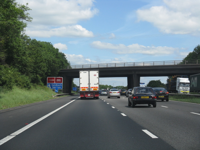 M6 motorway - A533 overbridge