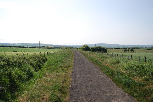Old railway heading to Hawsker