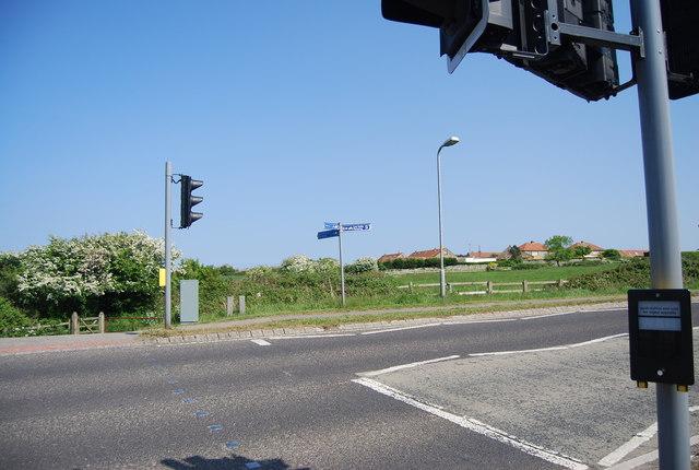 Pedestrian crossing, A171, Hawsker