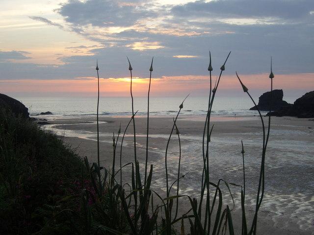 Porthcothan Bay sunset