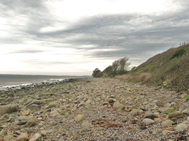 Foreshore above Kirkdale Sands, looking west
