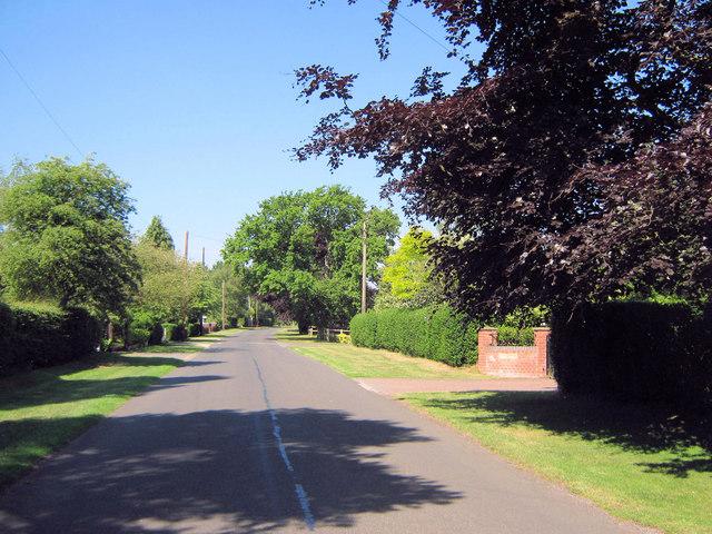West on Brereton Heath Lane