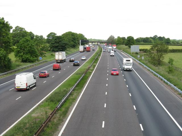 M6 motorway from Brindley Lane