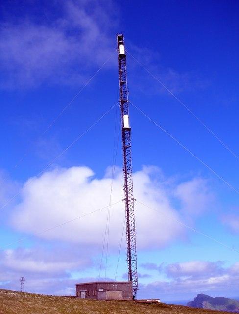 Radio mast on Mullach Mor