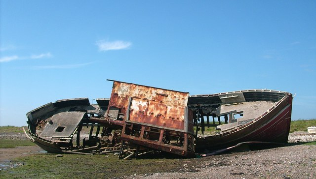 Shipwreck close to the causeway