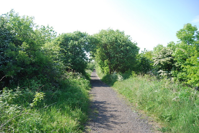 The old railway line west of Hawsker Station