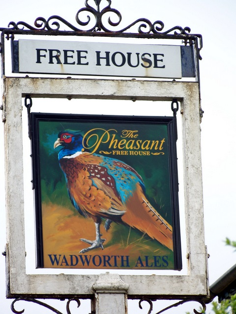 Sign for the Pheasant Inn