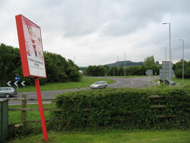 Roundabout at junction of A303 and A358