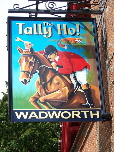 Sign for the Tally Ho