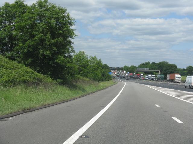 M6 motorway - northbound entry sliproad, junction 18