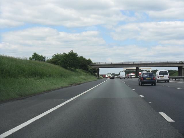M6 motorway - Byley Lane bridge