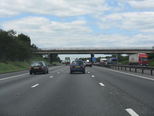 M6 motorway - Middlewich Road bridge