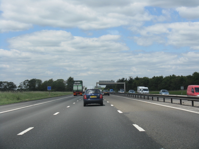 M6 motorway at Oak Tree Lane