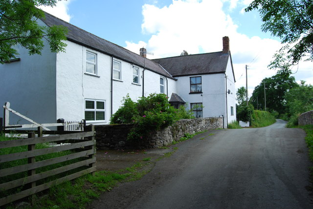 A pair of cottages at Pen-y-bont