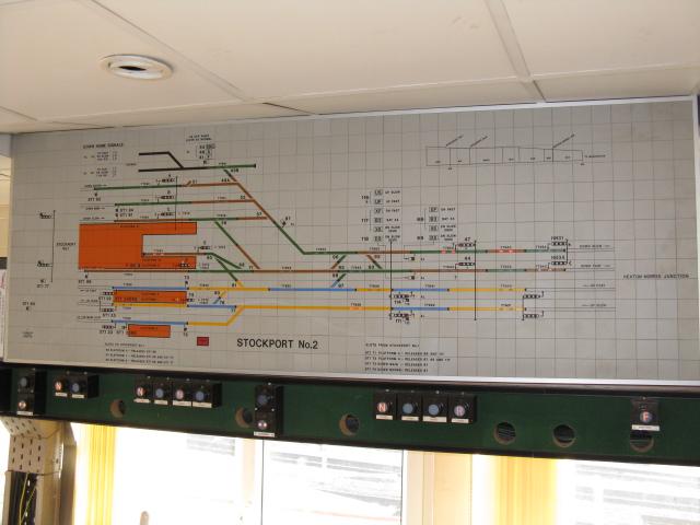 Stockport No.2 Signalbox - Signalbox Diagram