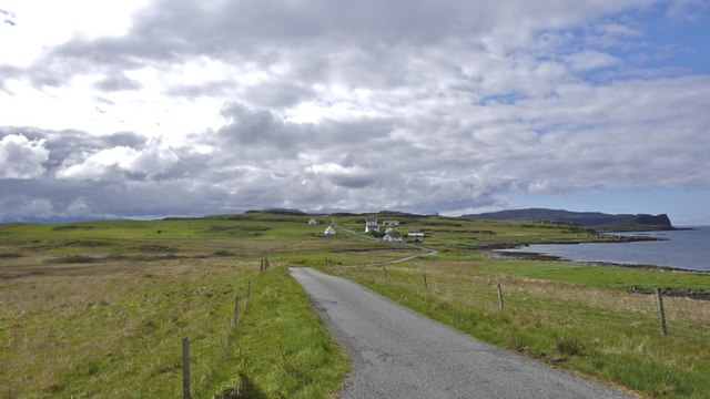 Ullinish from the road north to Eabost