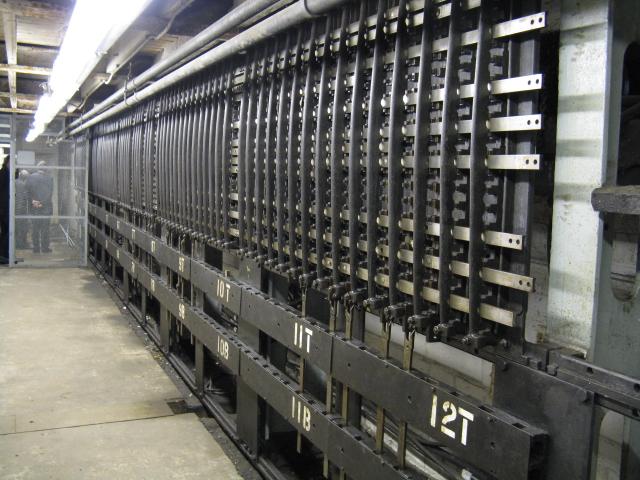 Stockport No.2 Signalbox - mechanical interlocking
