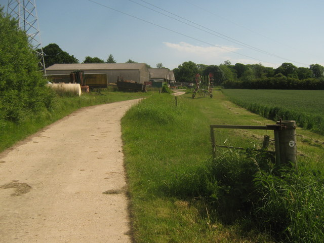 Saxon Shore Way near Luckhurst Farm