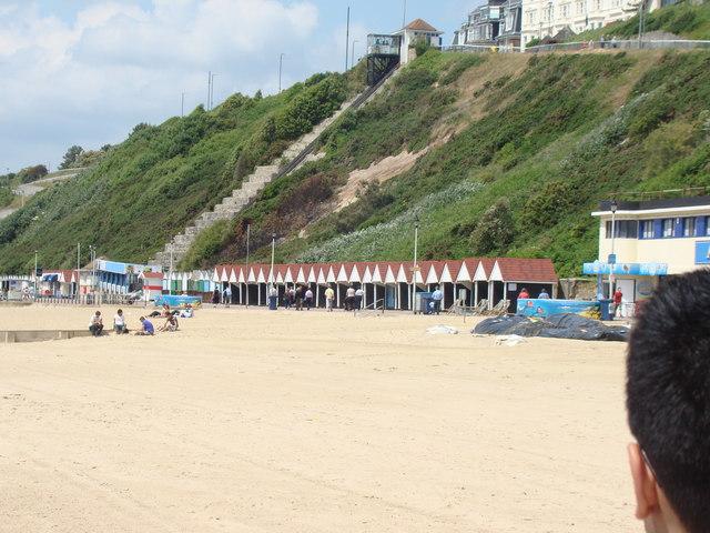 Beach huts on the promenade