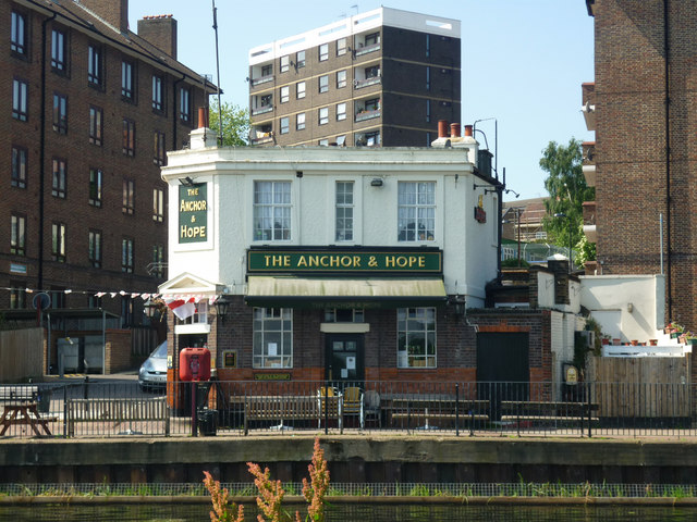 Anchor & Hope public house, River Lea, Clapton