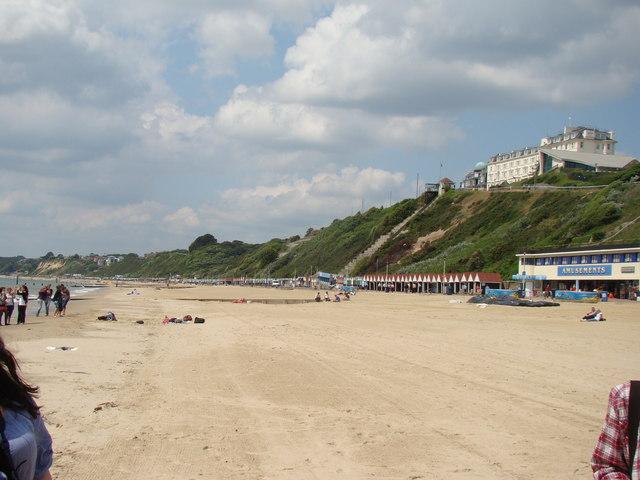 General view of Bournemouth beach scene
