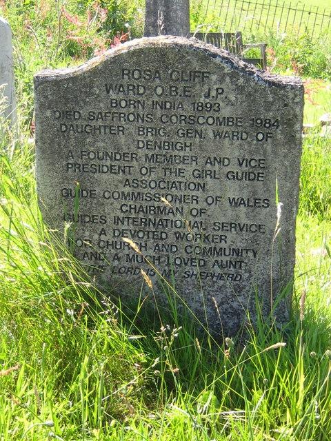 Rosa Cliff Ward gravestone - Corscombe