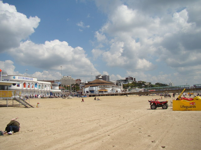 General view of Bournemouth beach scene #2