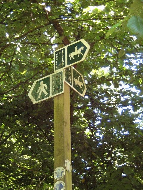 Footpath signpost - Corscombe