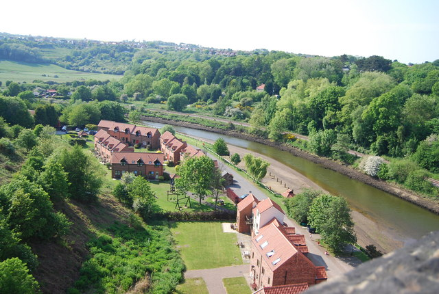 New houses by the River Esk