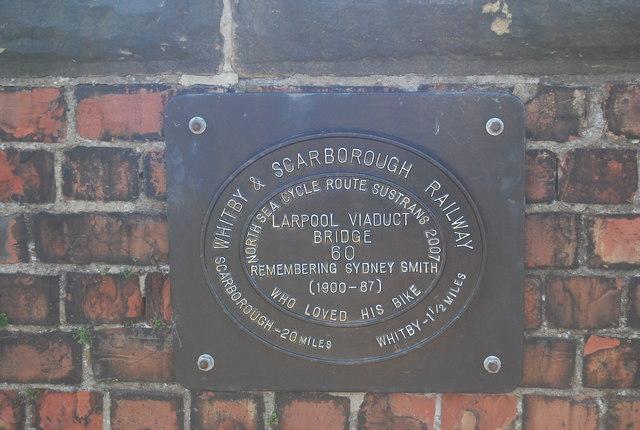 Memorial Plaque, Larpool Viaduct