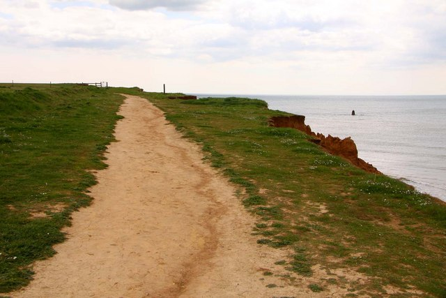 The Isle of Wight coast path by Hanover Point