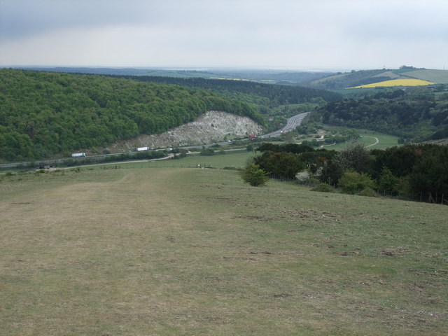 The A3 from Butser Hill