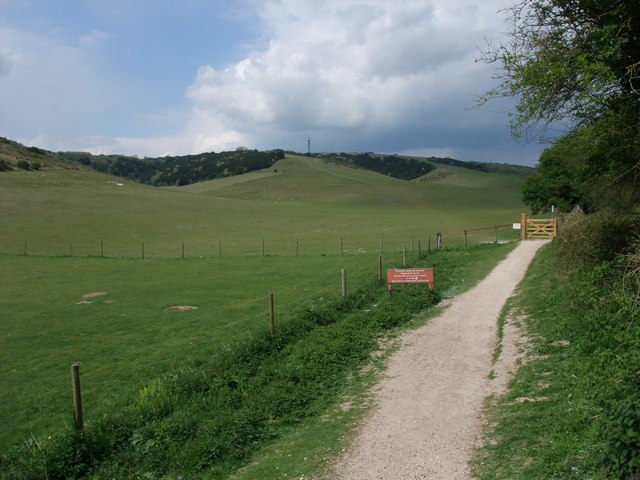 South Downs Way leading towards Butser Hill