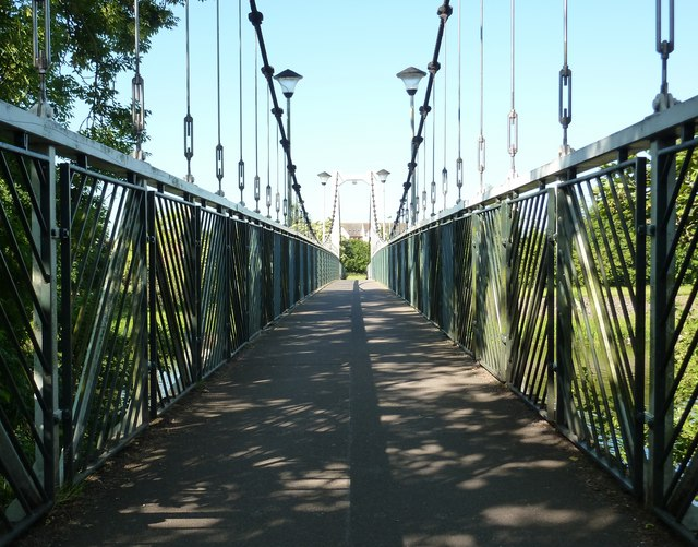 Trew's Weir Suspension Bridge, Exeter