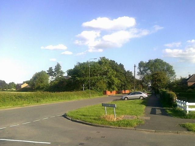Junction of Sherwood Avenue and Cole Lane, Borrowash