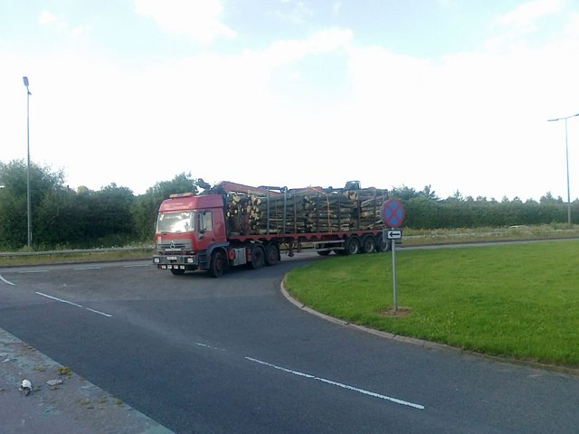 A lorry load of logs
