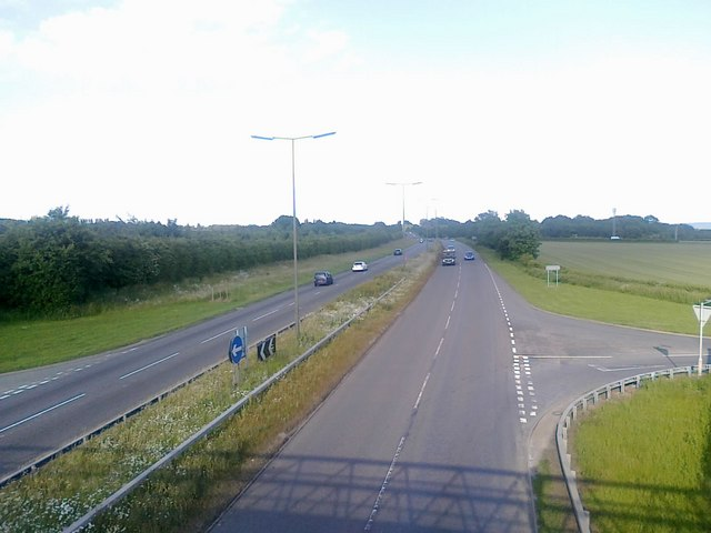 A52 towards Nottingham
