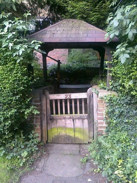 Gate to 23 Cole Lane, Ockbrook
