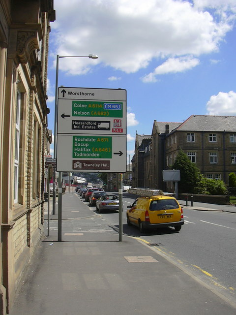 Road Sign, Yorkshire Street, Burnley