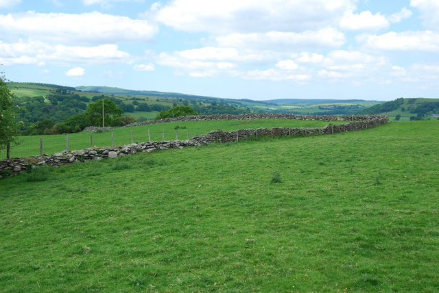 Upland grazing with dykes and fences