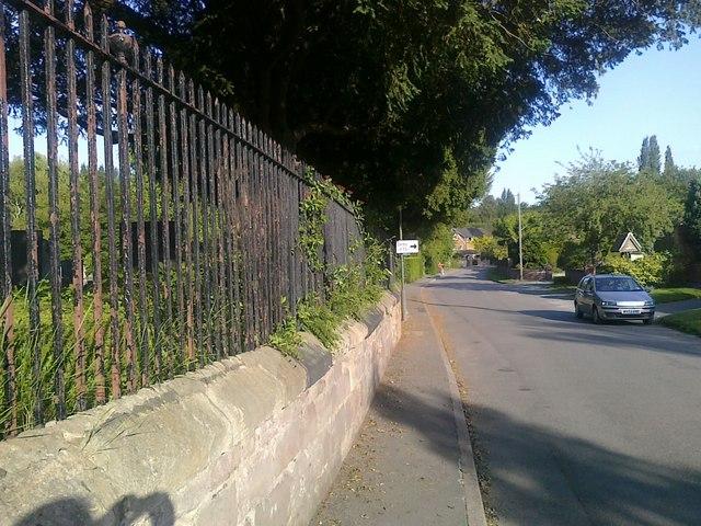 Ockbrook churchyard railings