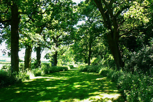 Footpath past Poulton Priory