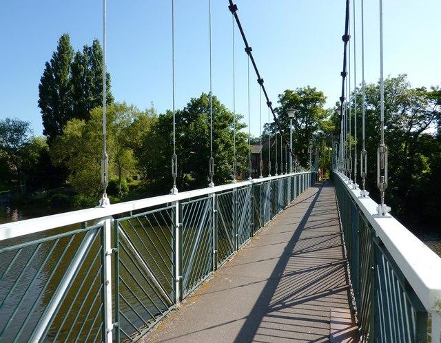 Trew's Weir Suspension Bridge, Exeter