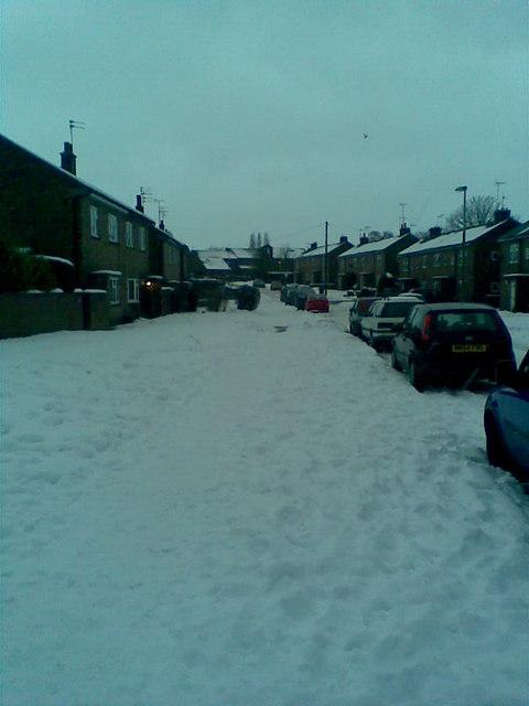 Wilwick Lane on winter's day