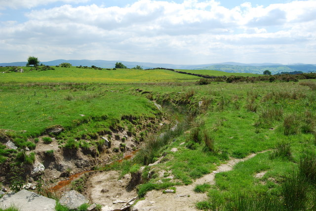 Drain from the nearby poorly drained fields