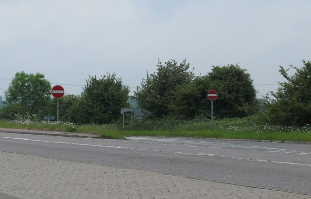 No entry into slip-road near Wheatley